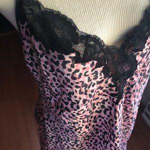 Victoria's Secret Leopard Blk & Pink Nightie Large